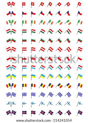 Flags of Europe 2 (No Coats of Arms)
