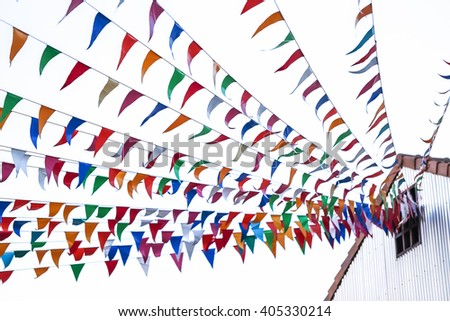 Flags of many colors