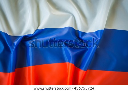 Flags of Russia - stock photo