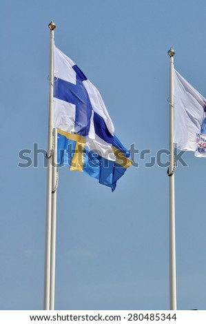 flags of states on masts