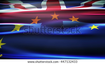 Flags of the United Kingdom and the European Union
