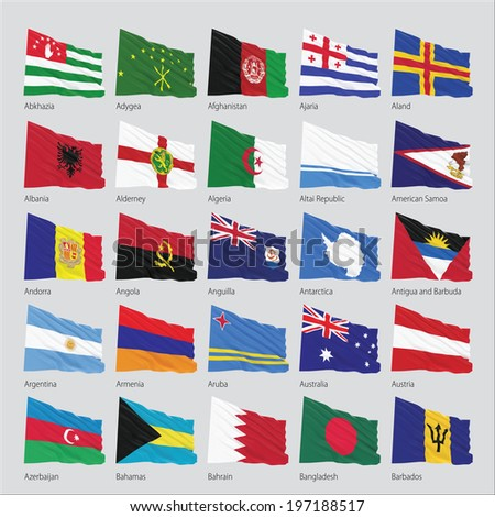 Flags of the world, 3d