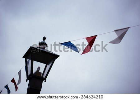 Flags & Sky - stock photo