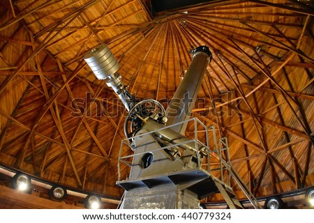 FLAGSTAFF, AZ - JUNE 12: Lowell Observatory at Flagstaff, AZ on June 12, 2016. Famous observatory in Arizona founded by Percival Lowell.