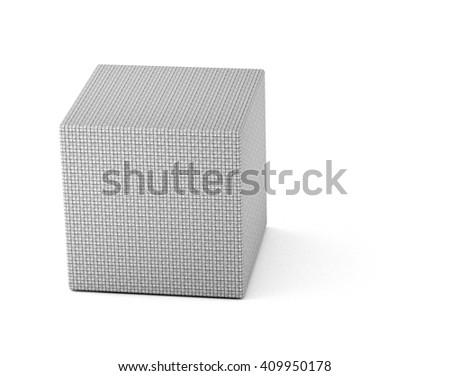 flagstone cube  - 3D illustration - stock photo