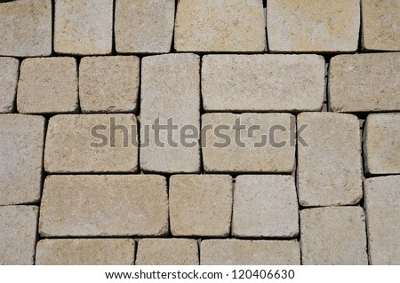 flagstone for paving in a garden - stock photo