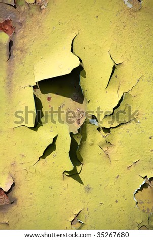 Flaking pain on an old truck - stock photo