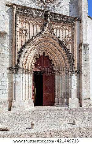 Flamboyant Gothic Portal Of The Santo Agostinho Da Graca Church 14th And 15th Century Mendicant