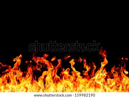 flame - stock photo