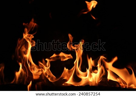 Flame and heat - stock photo