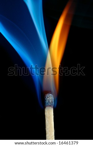 flame and smoke, mystery background - stock photo