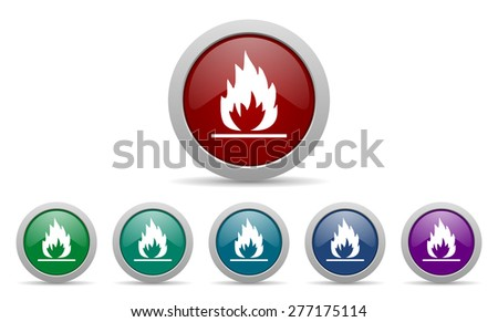 flame icon   - stock photo
