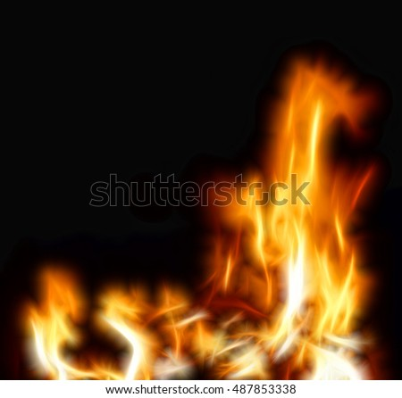 Flame illustration on dark background
