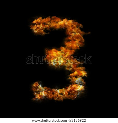 Flame in shape of figure eight three