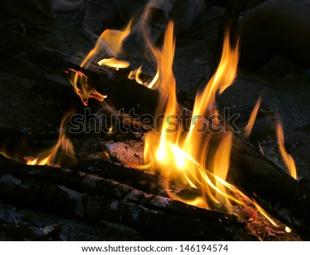 Flame night fire