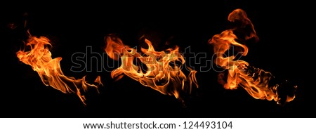 Flame torches - stock photo
