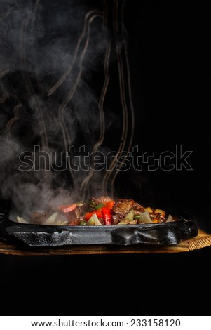 Flamed hot bbq