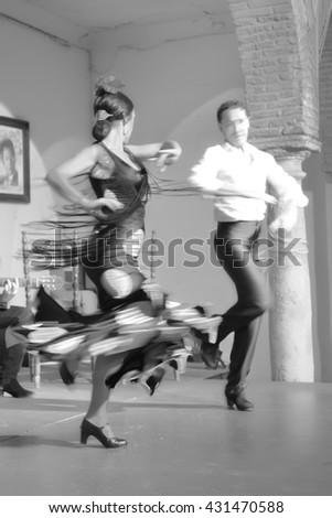 Flamenco Dancers - stock photo
