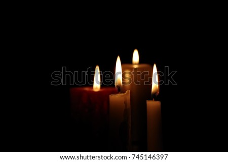flames of candles