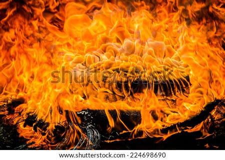 flames of fire - stock photo