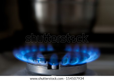 flaming gas - stock photo