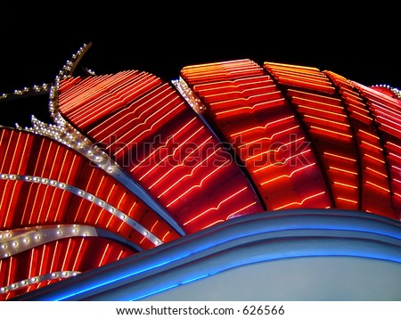 Flamingo Hotel Neon, Las Vegas, Nevada - stock photo
