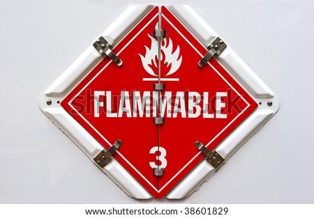 Flammable - stock photo