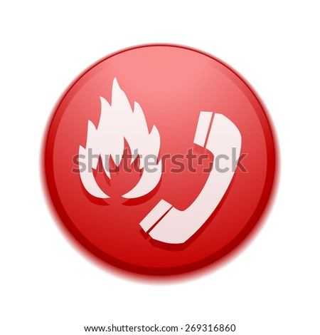 Flammable call sign - stock photo