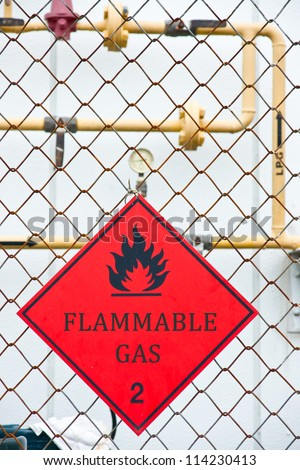 Flammable Gas Hazard Warning Sign
