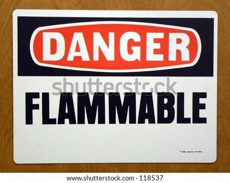 flammable sign in a lab