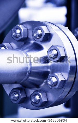 Flanged Connection - stock photo