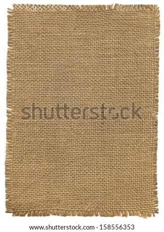 Flap burlap, background