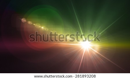 Flash light & Flare theme can be use in fashion,concert,show,sport match - stock photo