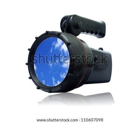 Flash Light isolated on white  background - stock photo