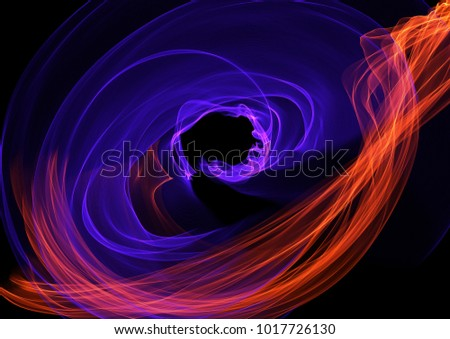 flash red blue contrast light background abstract line composition multicolored, colorful grunge textured curl  fantasy smoke backdrop, round weave curly lines texture