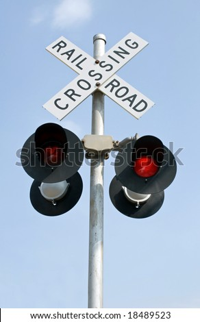 Flashing Railroad Lights - stock photo