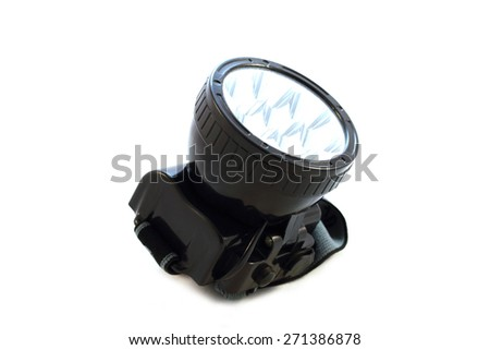 Flashlight on a white background