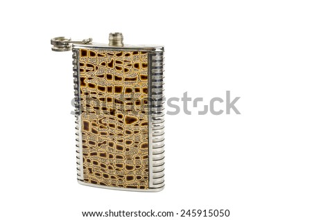 flask for alcoholic beverages - stock photo