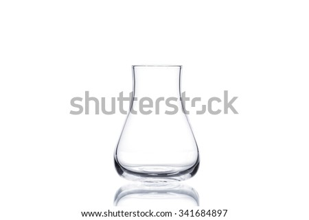Flask on white background