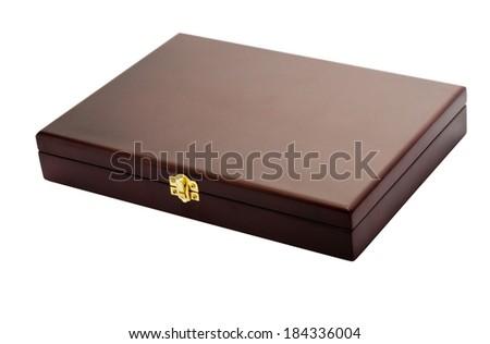Flat box on white - stock photo