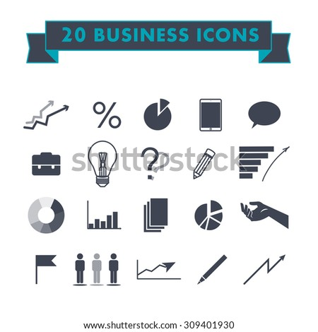 Flat business and marketing icons design.