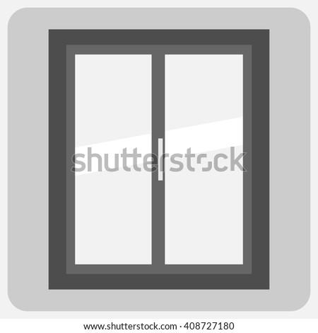 Flat- closed window - stock photo