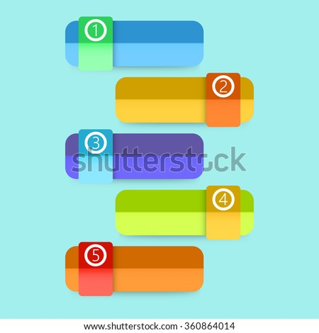 Flat Colorful Step by Step Infographics Illustration - stock photo