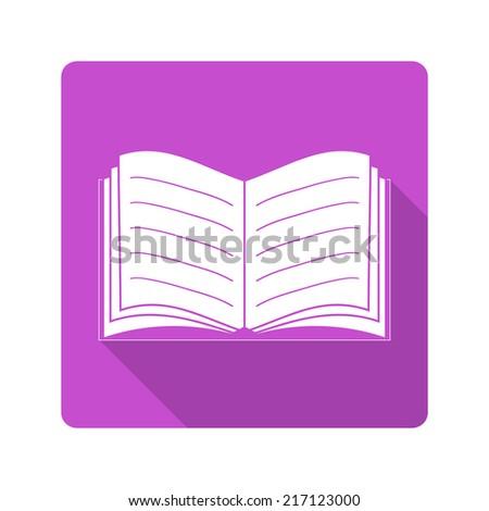 Flat design icon. Book - stock photo