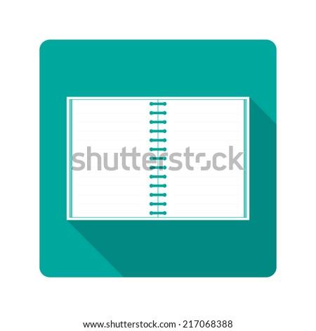 Flat design icon. notebook - stock photo
