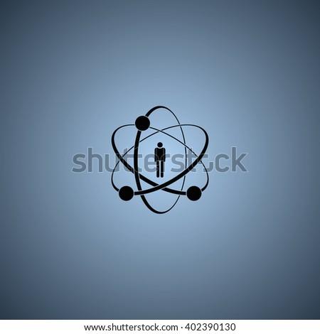 Flat design illustration concept for human skills. - stock photo