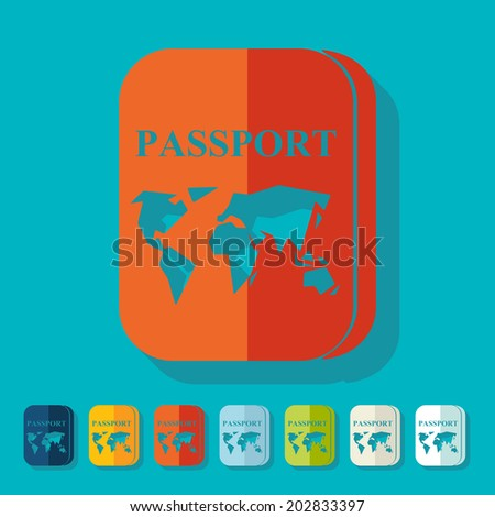 Flat design: passport