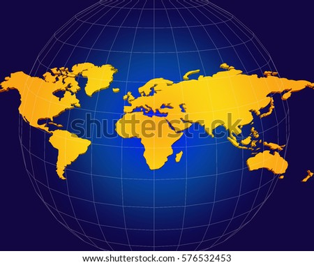 Flat earth world map illustration suitable stock illustration flat earth world map illustration suitable to be used as template for website brochure gumiabroncs Gallery