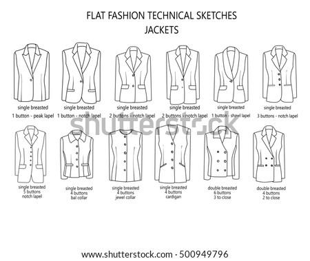 Flat Fashion Sketch Template Man Suit Stock Illustration 500949796 ...