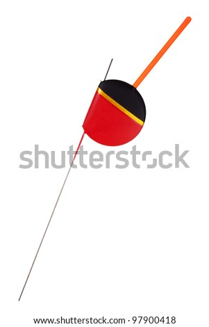 Flat float for catching fish on a white background